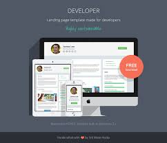 Free Resume Website Templates Free Responsive Website Template For Developers