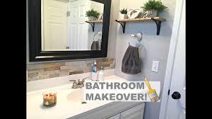 small bathroom makeover youtube