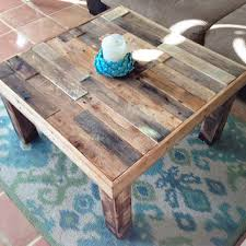rustic table ls for living room square reclaimed recycled wood pallet from kasecustom on etsy