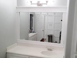 Ornate Bathroom Mirror White Framed Bathroom Mirror Unique Rectangle Wall Mirror With
