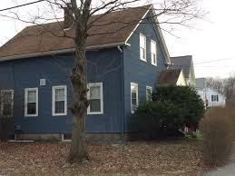 Tiger Gate Ballard Estate Dark Blue Asbestos Siding Historic Homes Westborough Ma