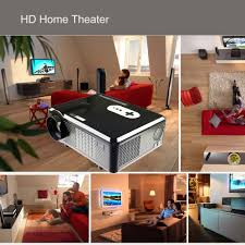 projector home theater 3000lumens 1080p hd home theater led projector 3d analog tv hdmi