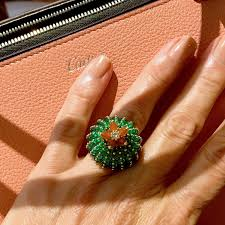cartier rings images Cactus de cartier emerald and carnelian ring cartier the jpg