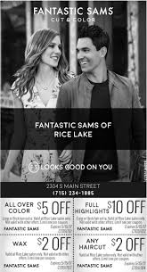 looks good on you fantastic sams cut and color rice lake rice