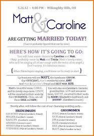 wedding party program wedding ceremony program template authorization letter pdf