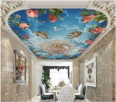 online get cheap angel wall murals aliexpress com alibaba group custom photo 3d wallpaper ceiling mural european embossed sky angel roses room painting 3d wall murals wallpaper for walls 3 d