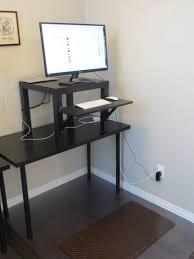 Height Of A Computer Desk Uncategorized Standing Workstation Ikea In Fascinating Ikea