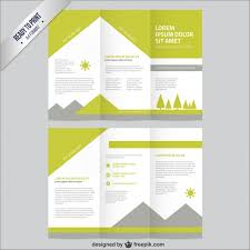 nature brochure template free vectors ui download