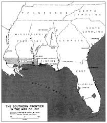County Map Of Mississippi War Of 1812