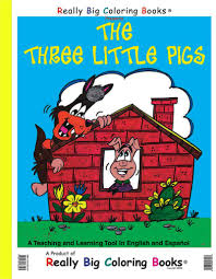 coloring books the three little pigs giant coloring book