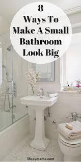 Tiny Bathroom 8 Ways To Make A Small Bathroom Look Big Tiny Bathrooms Eye And