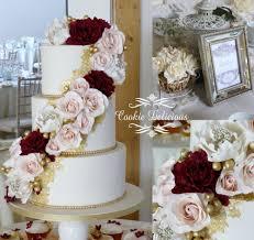 wedding cake essex masala burgundy blush wedding cake with edible gold lace