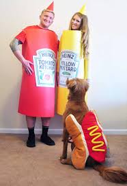 little sloth ketchup mustard hotdog diy halloween costumes