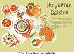 cuisine bulgare cuisine bulgare fête menu clair icône pâtisseries