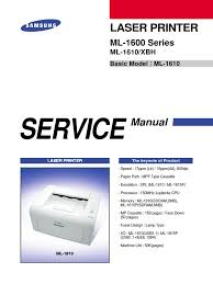 samsung ml 1610 printer service manual electrostatic discharge