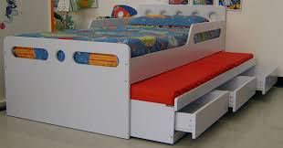 Kids Single Beds Adjustable Beds Sturdy Kids Wooden Beds With Cute Bedding Set