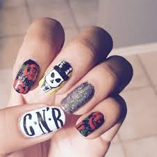 guns n u0027 roses nail art by me pinterest ongles