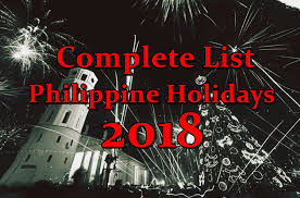 complete list of philippine holidays in 2018 philippine trending news