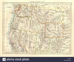 Oregon Usa Map by Usa North West Washington Oregon Id Mt Wy Utah Nevada Ca
