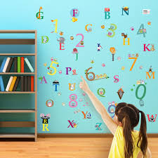 Nursery Stickers Educational Wall Stickers Alphabet And Numbers Wall Stickers
