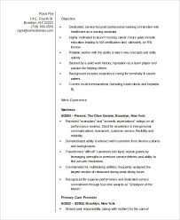 Sample Of Nursing Assistant Resume by Nurse Resume 11 Free Word Pdf Documents Download Free