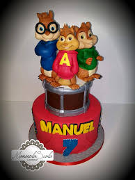 alvin and the chipmunks cake toppers alvin and the chipmunks by manuela scala cakes cake decorating