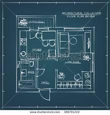 floor plan blueprint architectural floor plan bedroom stock vector 386701177