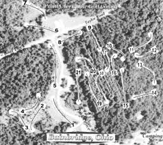 Chillicothe Ohio Map by Paint Creek State Park Disc Golf Course Professional Disc Golf