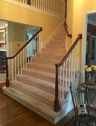 Laminate Flooring On Steps A Bad Fiber For A Stair Runner A Difficult Staircase Laurel Home