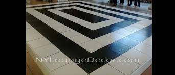 white floor rental ny lounge decor black and white poly floor
