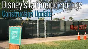 Coronado Springs Resort Map Disney U0027s Coronado Springs Resort Construction Update May 2017