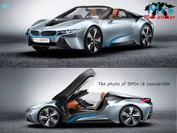 Bmw I8 Convertible - magnificent transformable bmw i8 paper model
