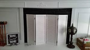 Folding Window Shutters Interior Shutter Diy Fireplace Screen