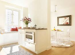 partition divides kitchen from dining space contemporary kitchen