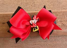 minnie mouse hair bow minnie mouse hair bows bowsiewowsies