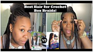 the best hair to use when crocheting the best hair for crochet box braids my horror story youtube