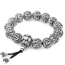 black prayer beads bracelet images Ancient lotus silver prayer beads bracelet ess6 fashion jpg