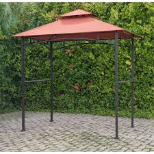 Outdoor Net Canopy by Grill Gazebo With Terra Cotta Canopy And Led Lights