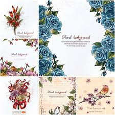 Designs For Invitation Cards Free Download Floral Frames Vintage Pattern Set Vector Free Wedding Invitation