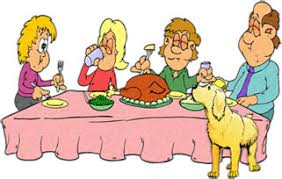 family at dinner table clipart collection