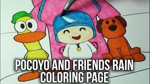 pocoyo coloring book pocoyo friends rain speed