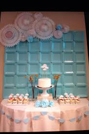 baby shower wall decorations wall decor backdrop at a shower for a baby boy using square paper