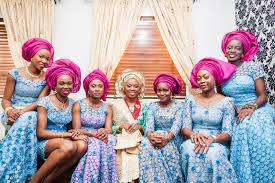 mint and gold nigerian traditional wedding aisle perfect