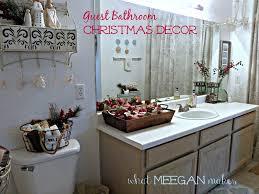 guest bathroom christmas decor what meegan makes