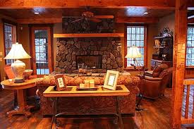 Arts And Crafts Living Room Ideas - cottage and lodge style craftsman living room minneapolis