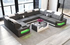 Denver Leather Sofa Denver U Shape Modern Luxury Sectionals Sofadreams