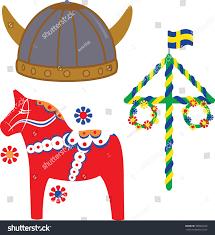 swedish icons on white background viking stock vector 180064649