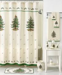 closeout spode bath accessories tree shower curtain