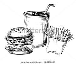 sandwich hamburger burger fast food french stock vector 463966166