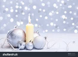 white silver christmas ornament candle blur stock photo 41284663